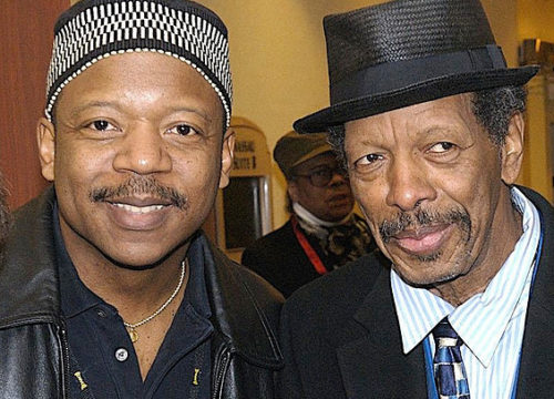 Ornette Coleman and Kenney Polson